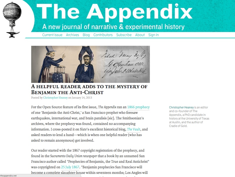 The Appendix on the web