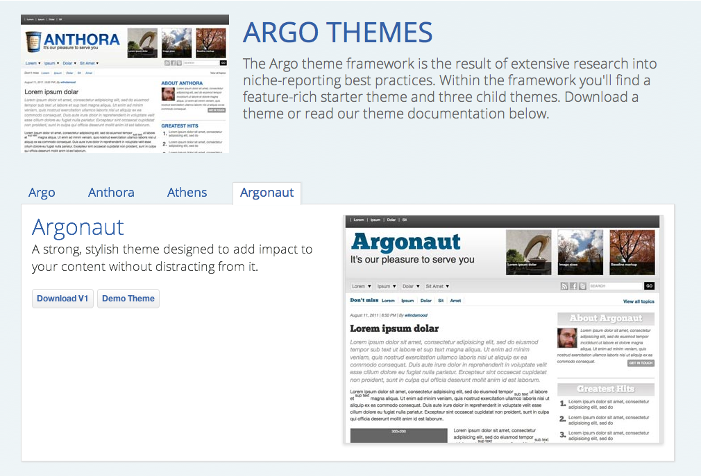 The Learning section of Project Argo's website