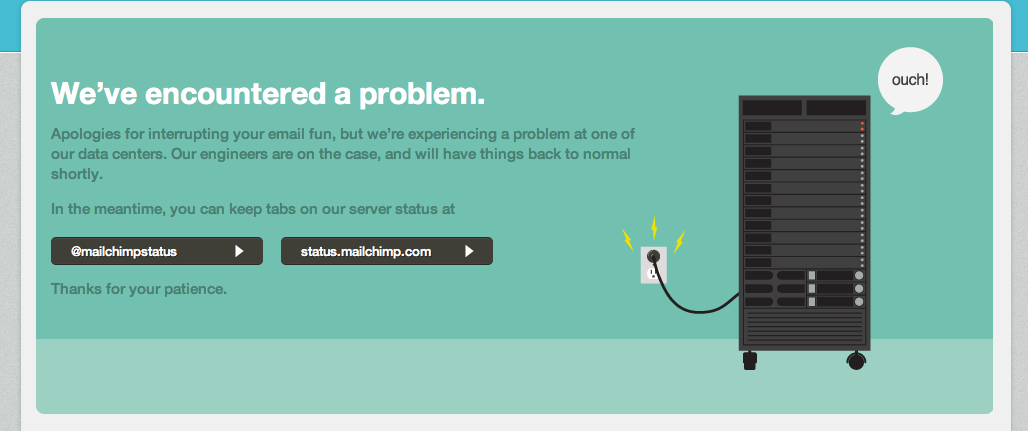 MailChimp server message quoted above.