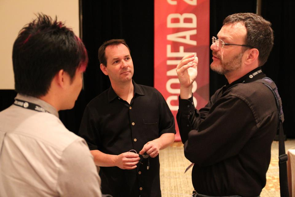 Confab speakers: Kevin Cheng, Dan Roam, and Lou Rosenfeld